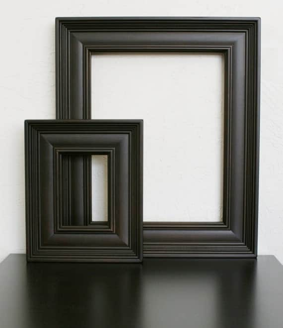 24x30 wood picture frame empire style black white