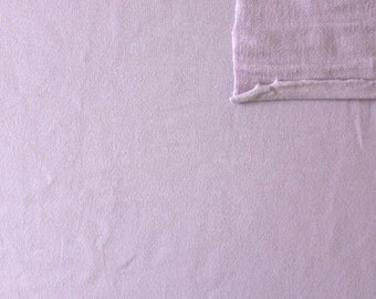 Solid Light Purple Lavender 4 Way Stretch French Terry Knit Fabric With Spandex, 1 Yard
