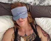 Lavender Organic Relaxation Sleep Eye Mask Aromatherapy Headache Migraine Travel Mask Gift for Valentine's Day