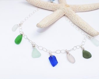 Sterling Silver Sea Glass Necklace - Lake Erie Necklace - Beach Glass Necklace - FREE Shipping inside the United States