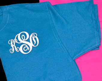 Monogrammed T-Shirt, Personalized Tshirt, Preppy Tee, Monogram Tshirt, Personalized Tee, Monogrammed Tee