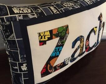 Custom STAR WARS Pillow - Personalized Pillow - Star Wars Birthday - Custom Name