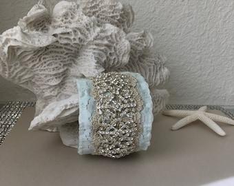 Rhinestones Gold Lace Boho Cuff