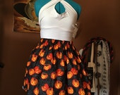 Pumpkin and Webs Elastic Skirt