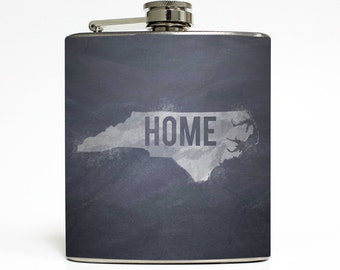 Chalkboard State Whiskey Flask Your Home State and Custom Color Chevron Stripes Wedding Gift Stainless Steel 6 oz Liquor Hip Flask LC-1047
