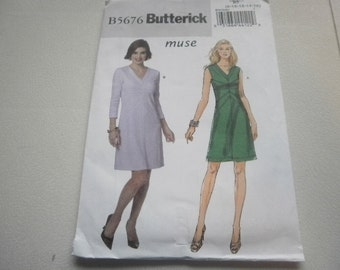 Pattern Ladies Dress 2 Styles Sizes 8 to 16 Butterick 5676