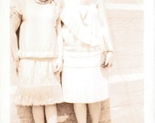 Girls on the Boardwalk - Vintage Photograph, Ephemera, Vernacular, Found Photo (A)