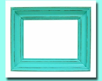 Shabby Chic Frames Rustic Picture Frame 5x7 Aqua Home Decor Wall Art Nursery Wedding Beach Picture Frames