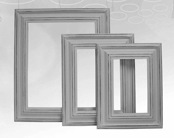 Picture Frame Picture Frame Set Shabby Chic Picture Frames Gray Grey Home Decor Rustic Picture Frame Nursery Wedding Wall Decor