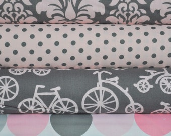 Bloom Bicycles 4 Fat Quarters Bundle for Michael Miller, 1 yard total