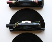 Elvis Presley Upcycled Vinyl Record Wine Rack Wall Organizer - Set of 3