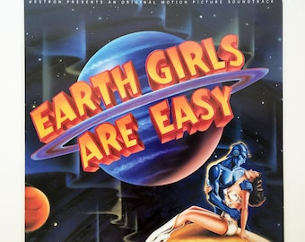 "Rare ""Earth Girls Are Easy"" Vinyl Soundtrack (1989) - Very Good Condition"