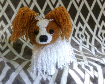 Crochet papillon puppy dog READY TO SHIP