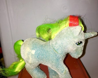 vintage 1985 1986 Hasbro made in hong kong conclave Ribbon my little pony so soft unicorn pony RAD