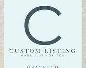 Custom Listing for Seana Hearn