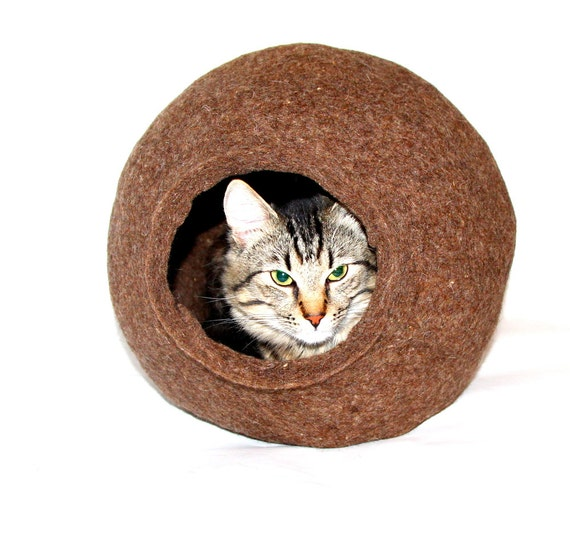 Cat Bed Cat Cave  Cat House Handmade 100% Wool