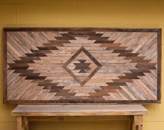 Reclaimed Wood Wall Hanging or Headboard