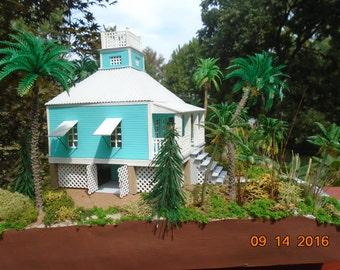 Bahama  Beach House Diorama, available now.