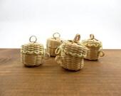 "4 Baskets w/Lid Miniature 1 1/2"" H x 1 1/4"" W"