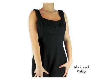 Elegant Black Maxi Dress Vintage 1960s Size Small Claralura Original