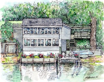 Custom House Portrait,Watercolor House Portraits, House Painting,Home Portrait,House Pen and Ink,Drawing of House,Holiday Christmas Gift