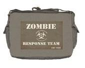 Zombie Apocalypse - Canvas Messenger Bag - KAHKI - Response Team - Walking Dead
