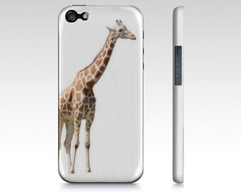 Giraffe iPhone Case - iPhone 6 6S Case - iPhone 5 5S - Art Photography Case - iPad Mini Case - Samsung Galaxy S4 S5 - White Orange Cover