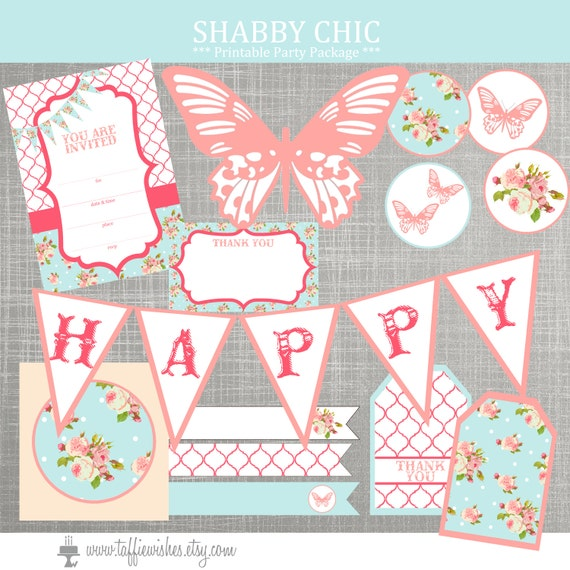 shabby chic birthday party decorations shabby chic baby shower rh catchmyparty com shabby chic bedding collections