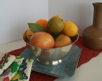 """ONEIDA Large Silver Plated Paul Revere Reproduction Fruir bowl, Serving Bowl - 10""""/ Oneida silver plated fruit bowl/ serving kitchen bowl"""