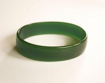 Vintage Lucite Green Bangle