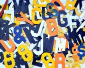 Vintage Marquee Metal Sign Letter Collection: Dozens of Industrial Wall Hanging Letters, Numbers & Punctuation -- Steampunk Supplies Lot #75