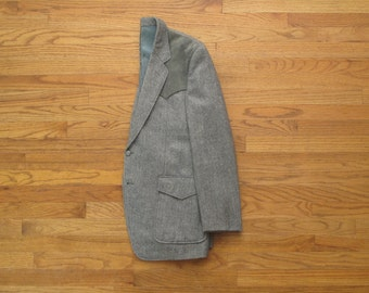 mens vintage western tweed sport coat