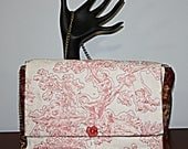 Quilted Purse Children and Trees Toile