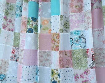 Pair of Cotten Patchwork Curtains
