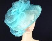 Mint Green Kentucky Derby Fascinator Hat Bridal Coctail Hat Couture Fascinator Bridal Hat