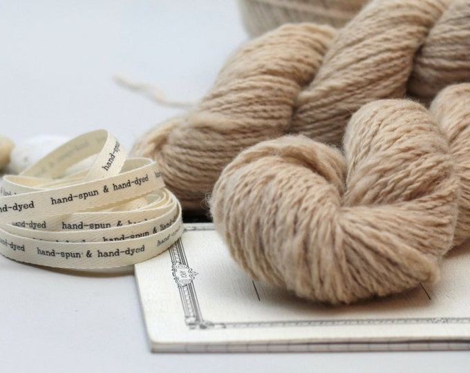 Hand Dyed Yarn Baby Camel hand-spun , pale camel ,natural