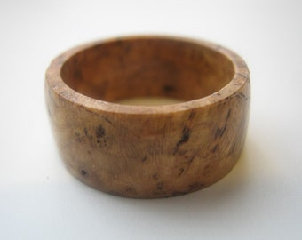Black Cherry Burl Ring