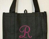 Personalized Tote w/Initial - Fancy Flourish Font