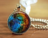 Galaxy Pendant, Galaxy Necklace, Space Pendant, Space Necklace, Space Jewelry, Hubble Pendant, Science Pendant, Space Key Ring A1