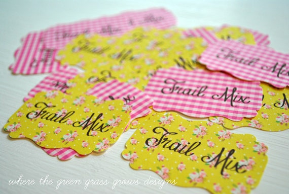 Trail Mix Pony Party Sticker Labels