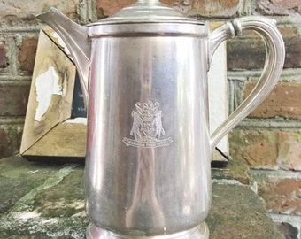 Vintage 1928 Silver Plate Teapot from The Wardman Park Hotel in Washington DC