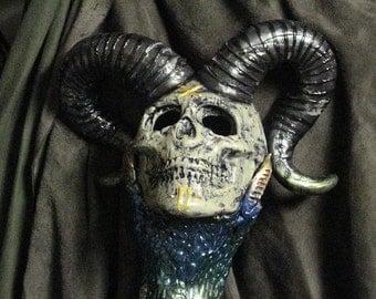 Horned Skull Staff