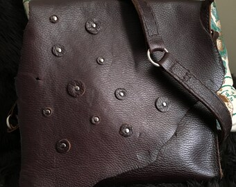 Spot Buffalo Leather Messanger Bag