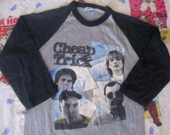 Vintage 80's CHEAP TRICK  one on one 1982 raglan sleeve Concert Tour T shirt S