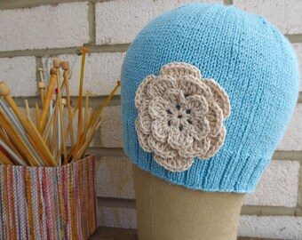 NEW Bamboo Cotton Cap with Flower Soft, Comfortable and Lovely gift under 30 dollars