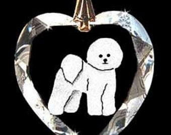 Bichon Dog Custom Crystal Necklace Pendant Jewelry, Suncatcher made with any Animal or Name YOU Want, Gift , Dog Lover, Handler, Trainer