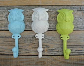 Owl Wall Hook Set, Cast Iron Wall Hook, Owl Hook