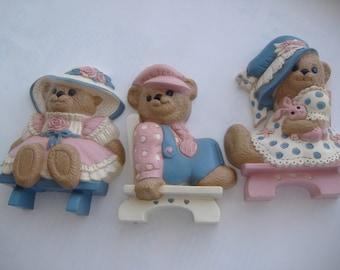 Three Burwood Bears Nursery Wall Decor