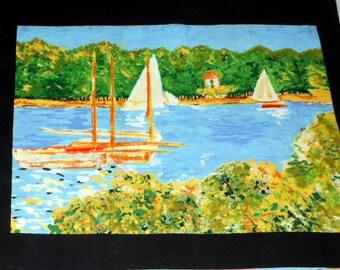 Fabric Panel Monet Tribute to Monet Fabric Cotton Classics Panel 8 Monet Prints