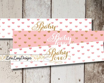 DIY Printable Baby Love Water Bottle Labels